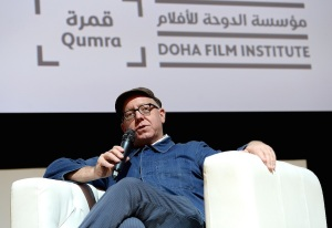 DOHA, QATAR - MARCH 05:  Multi award-winning screenwriter, director and leading US indie producer James Schamus delivers a Qumra Master Class during day two of Qumra, the second edition of the industry event by the Doha Film Institute dedicated to the development of emerging filmmakers on March 5, 2016 in Doha, Qatar.  (Photo by Jeff Spicer/Getty Images for Doha Film Institute) *** Local Caption *** James Schamus