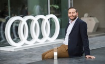 Jamal Alsharkas winner of the Audi Innovation Award